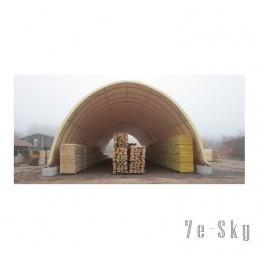 Tunnels de stockage du bois